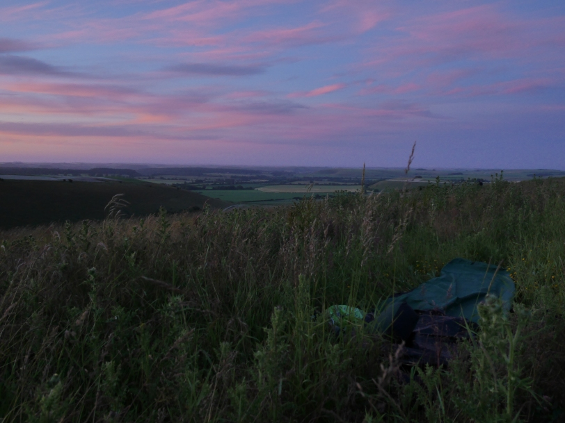 wild camping, Kingston Deverill, Wiltshire